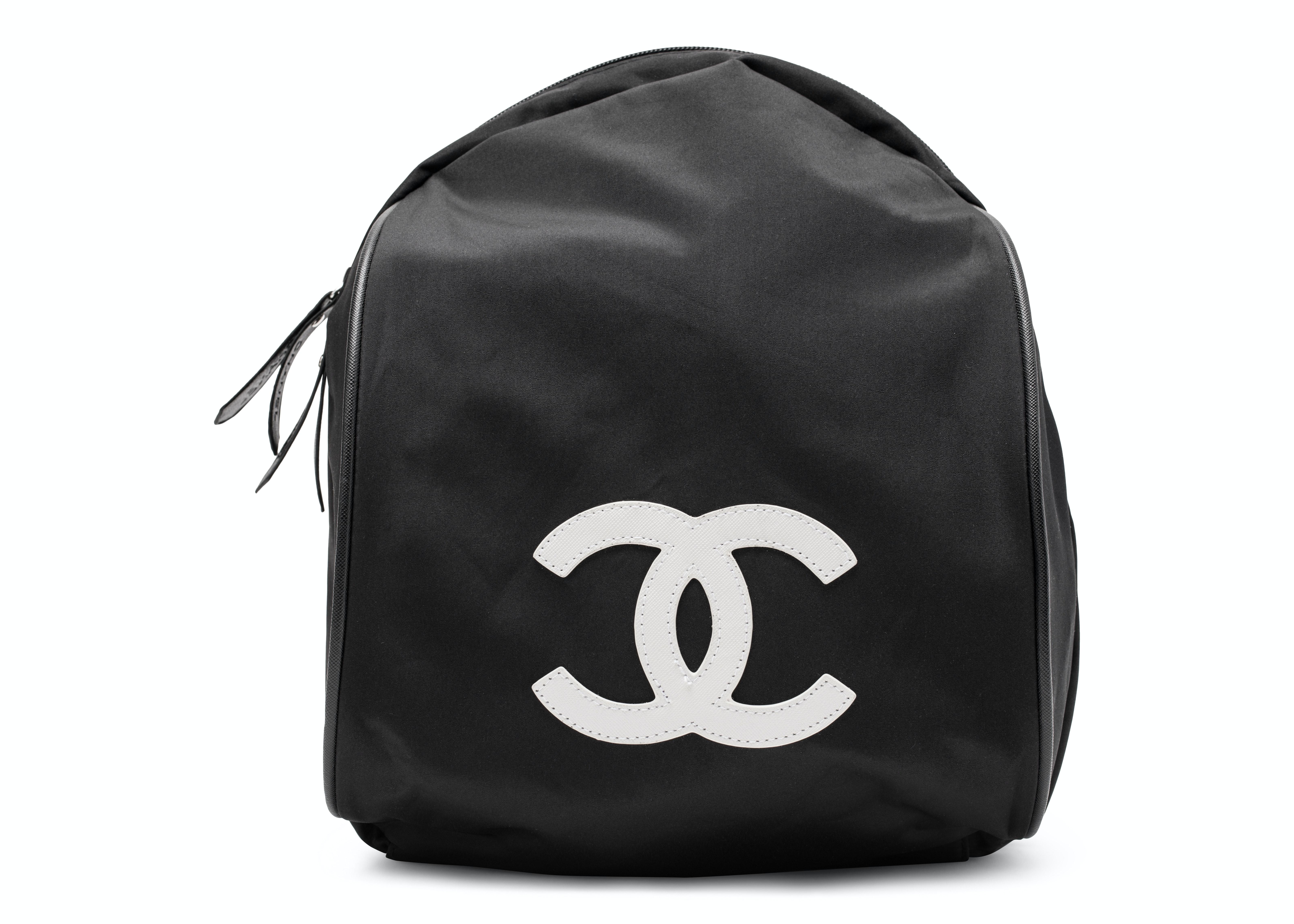 Chanel VIP Backpack CC Black/White