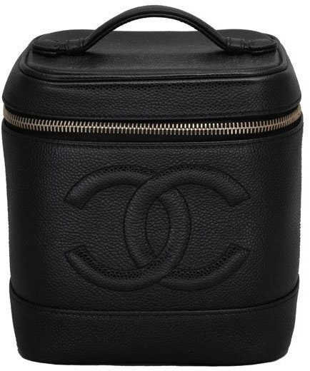 Chanel Vanity Case Globe Trotter Quilted Matte Black