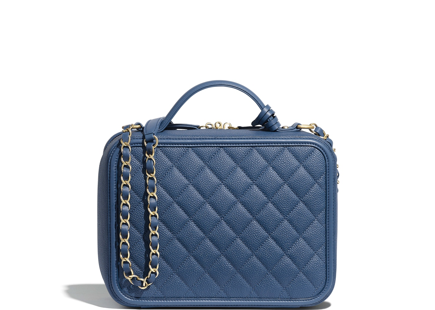 3a2cf3dded65 Sell. or Ask. View All Bids. Chanel Vanity Case Quilted Grained Calfskin ...