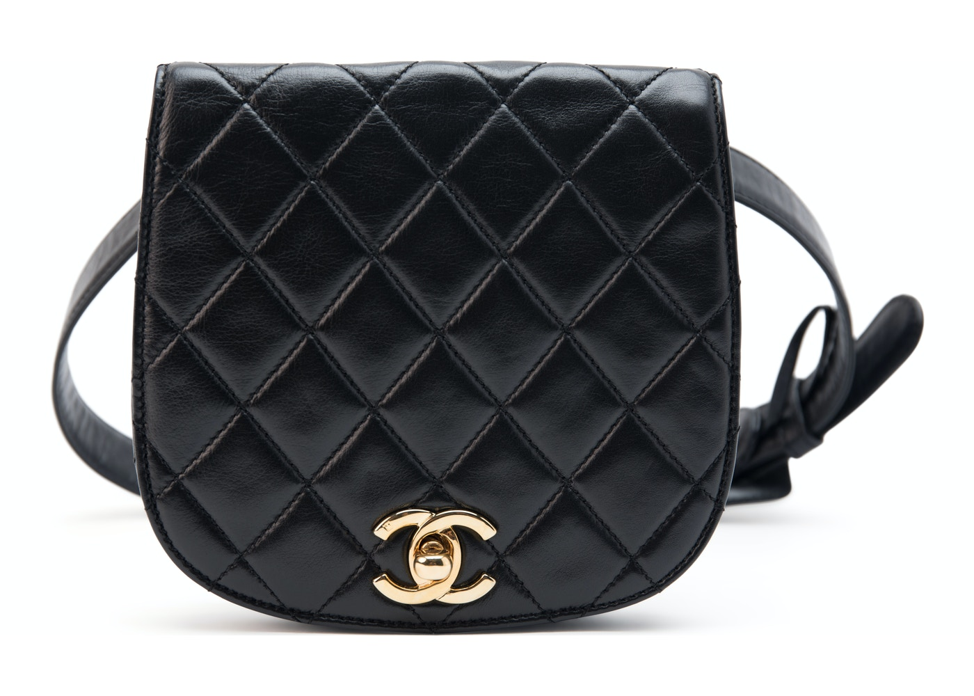 75605c3fbe65 Chanel Vintage Bum Bag Waist Belt Quilted CC Black. Quilted CC Black