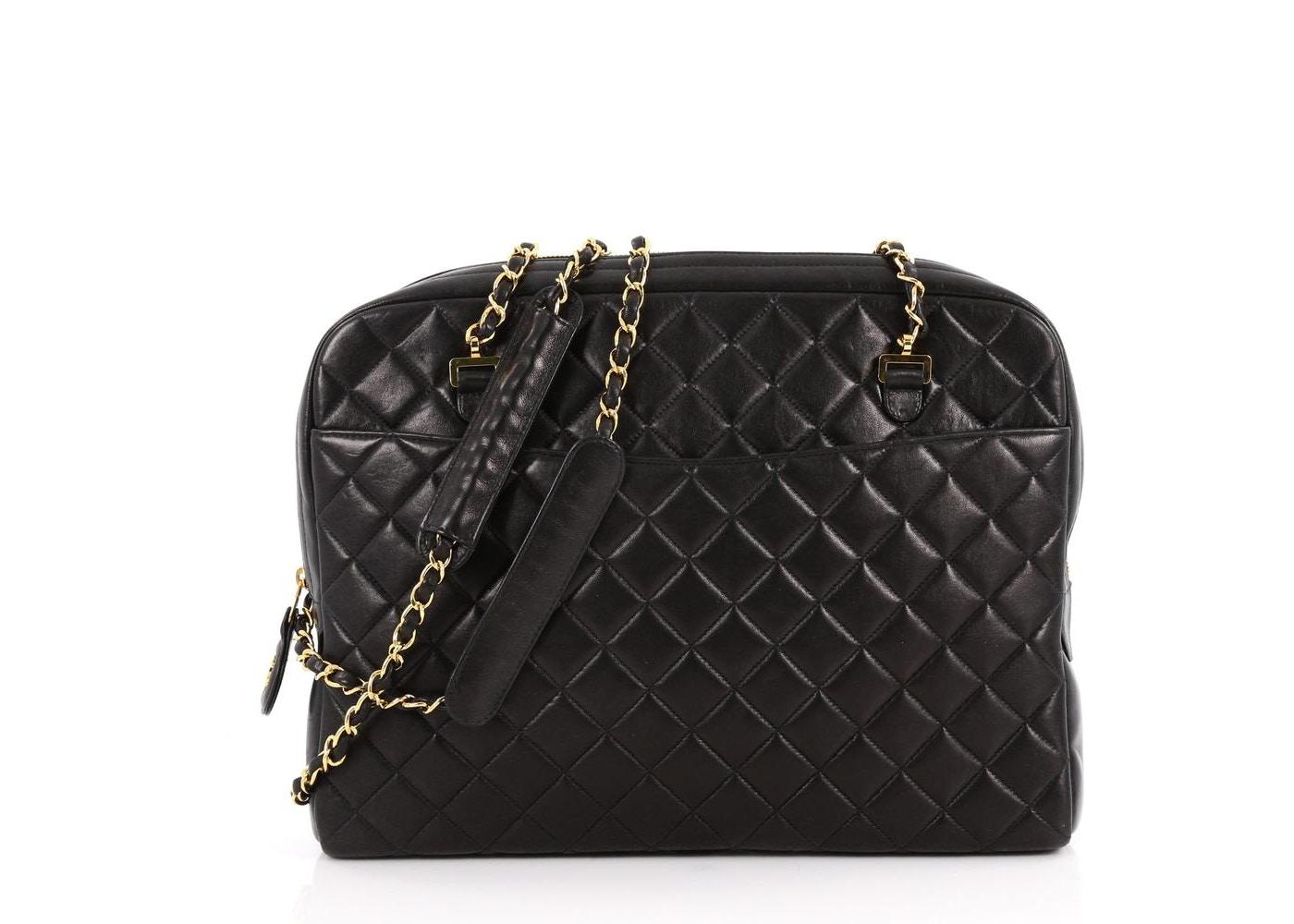 92c05c0e0e5b Chanel Vintage Camera Bag Quilted Large Black. Quilted Large Black