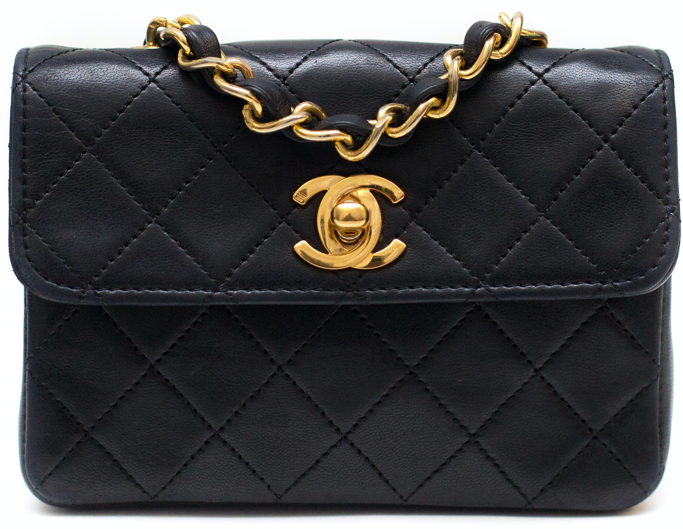 Chanel Vintage Classic Single Flap Quilted Black