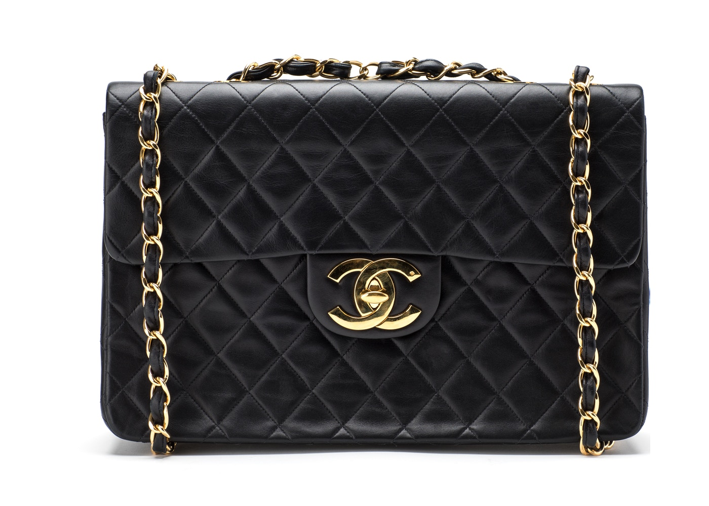 e0c7e1f1ff24 View All Bids. Chanel Vintage Classic Single Flap Quilted Maxi Black.  Quilted Maxi Black