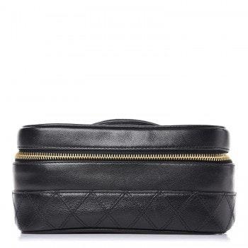 Chanel Vintage Cosmetic Case  Black