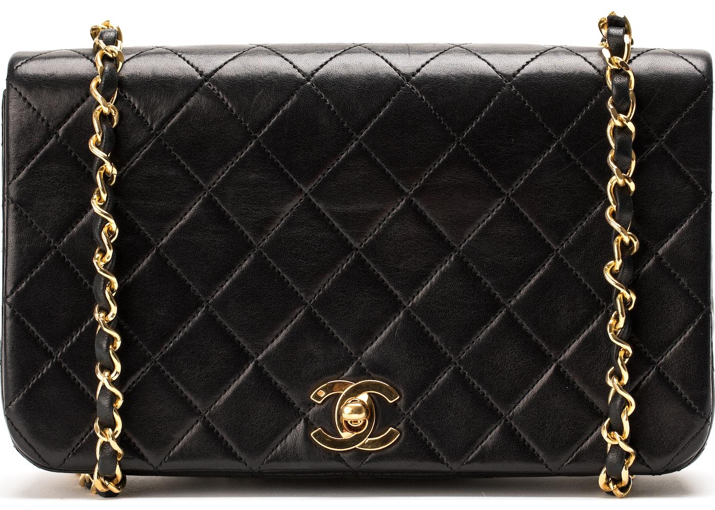 c675a8f7c5b2 Chanel Vintage Full Flap Stitched Small Black. Stitched Small Black