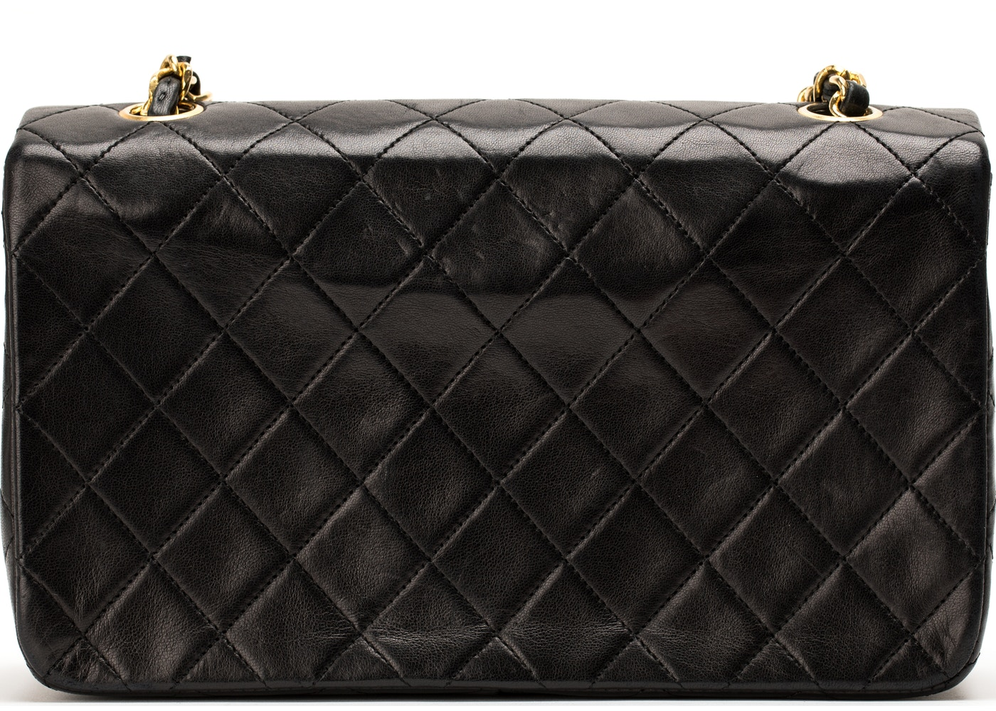 d854bf586ae1 Chanel Vintage Full Flap Stitched Small Black