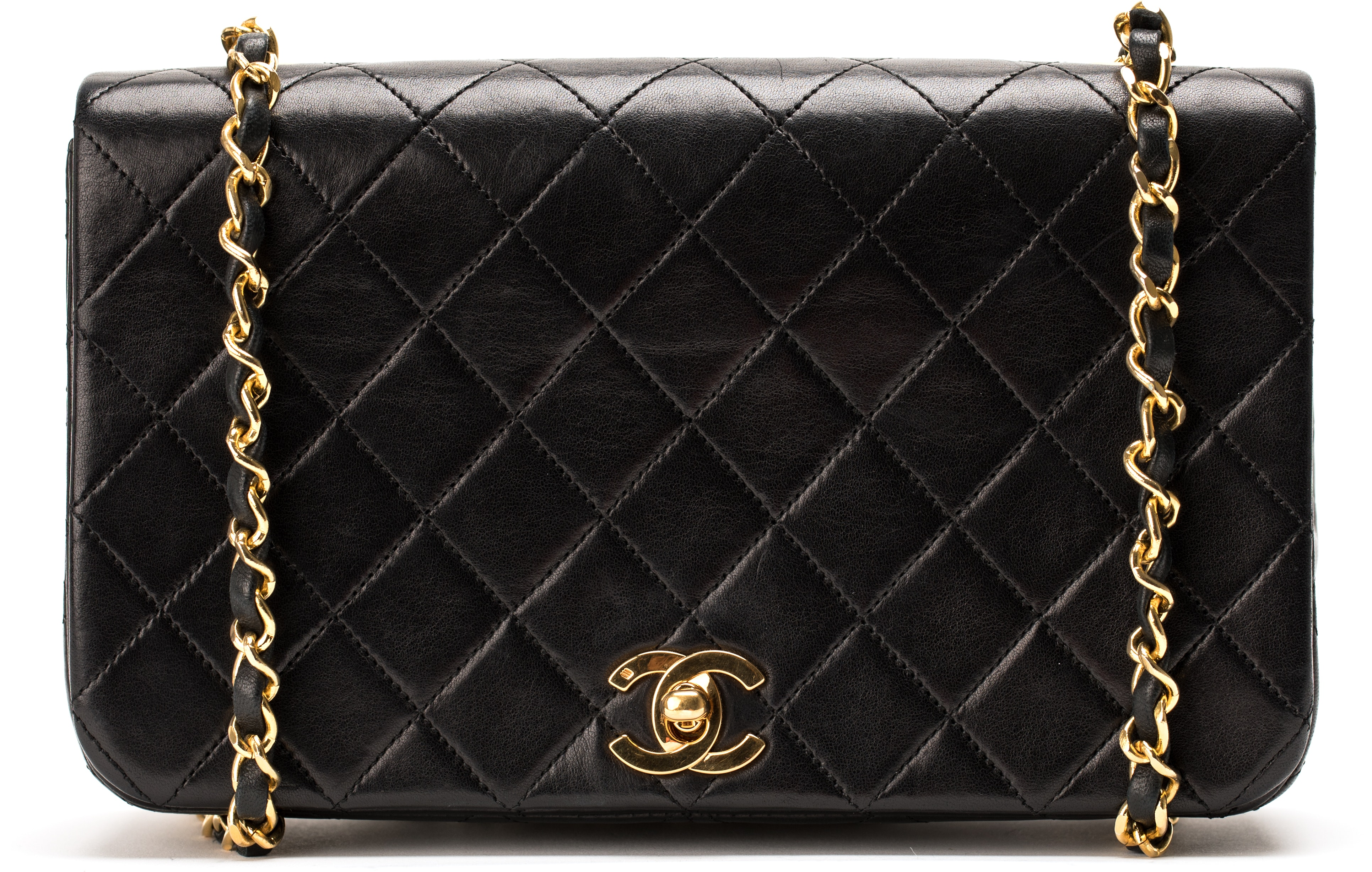 Chanel Vintage Full Flap Quilted Small Black