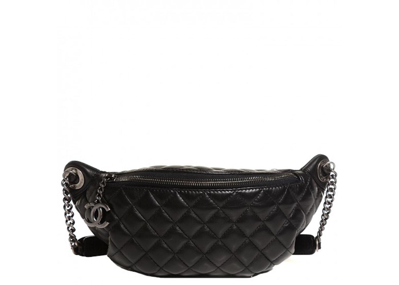 00e2df889e Chanel Waist Bag Quilted Black
