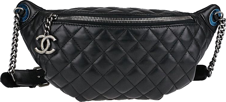 fec3b7b6cc5be Sell or ask view all bids chanel waist bag quilted black png 1400x1000 Chanel  belt bag