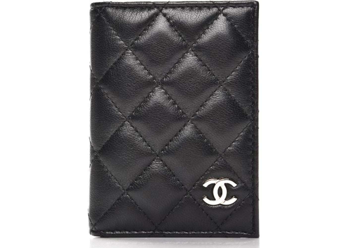 0c9b07c8abdb5a Chanel Card Holder Wallet Quilted Diamond Black. Quilted Diamond Black