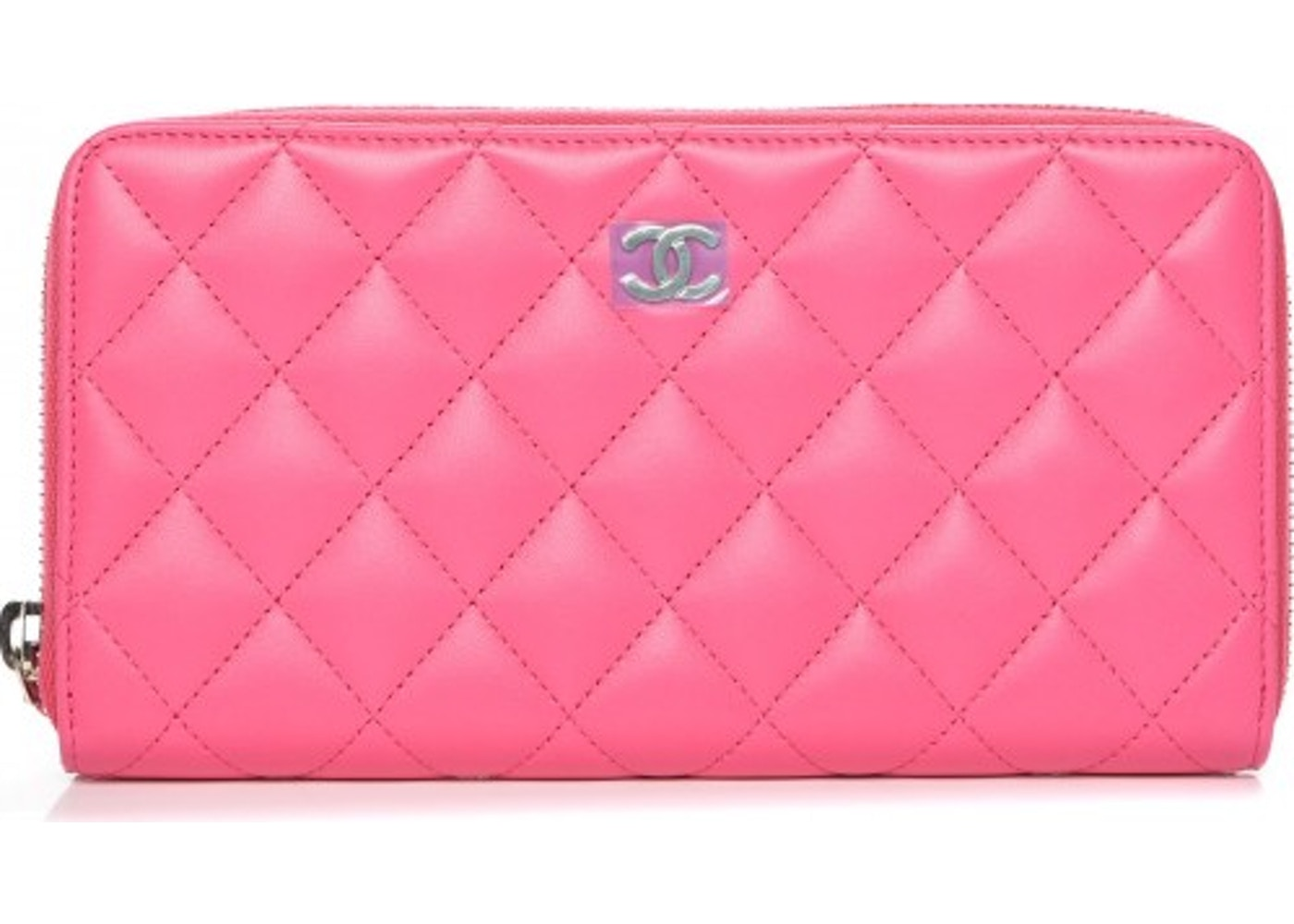 87a8c20651b9 Chanel Gusset Zip Around Wallet Quilted Diamond Pink. Quilted Diamond Pink
