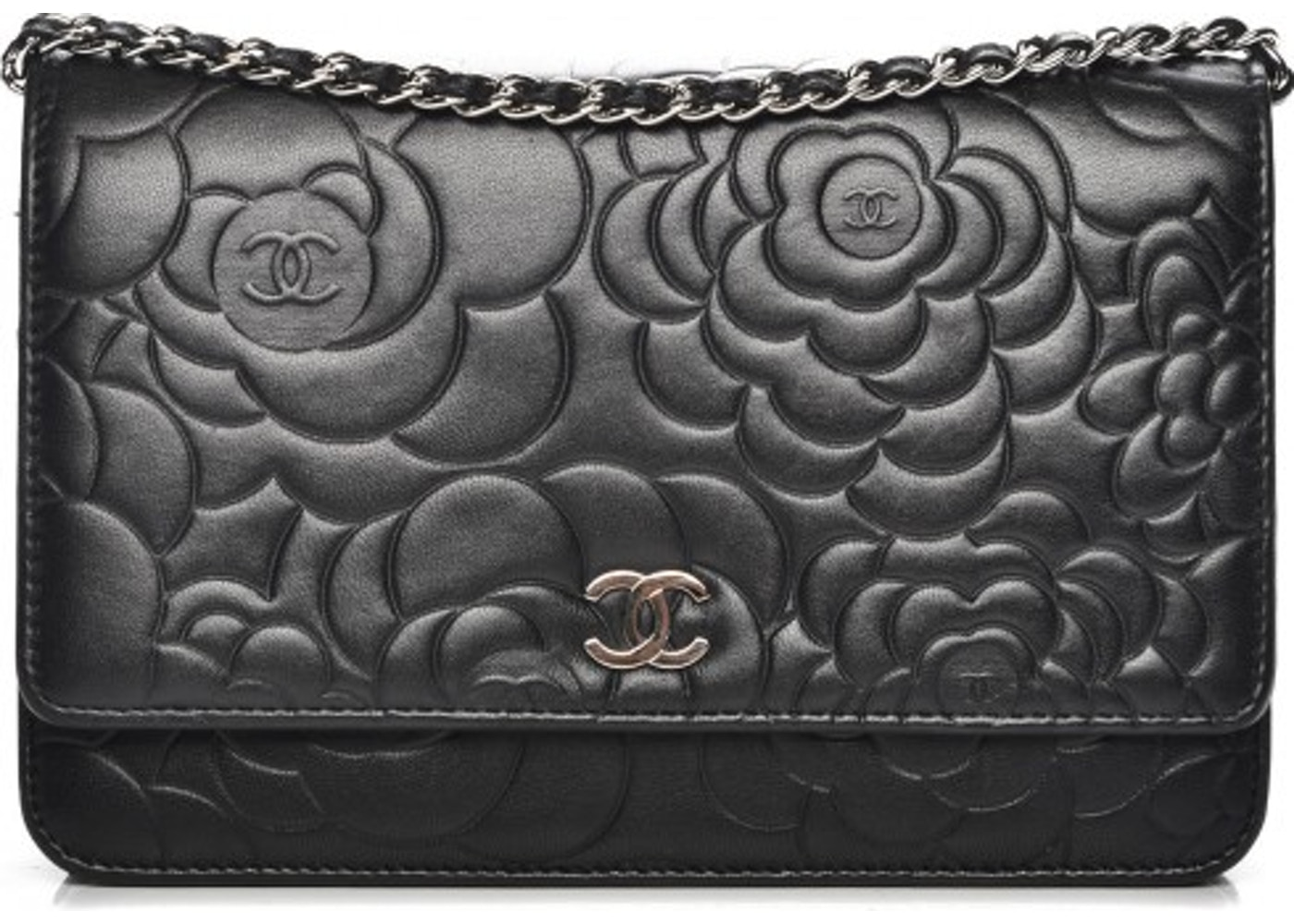 13f135b236daf1 Chanel Camellia Wallet On Chain Camellia Black
