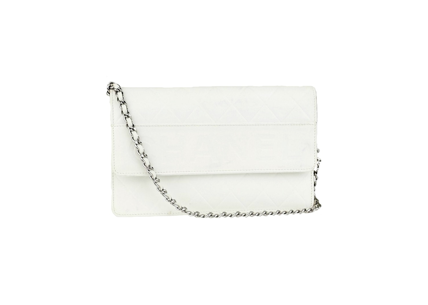d7d9b1748c7edc Chanel Clutch Wallet on Chain Diamond LAX Quilted White. Diamond LAX  Quilted White