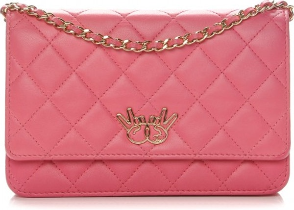 d276c7d7e91fa6 Chanel Emoticon Wallet On Chain Diamond Quilted Pink