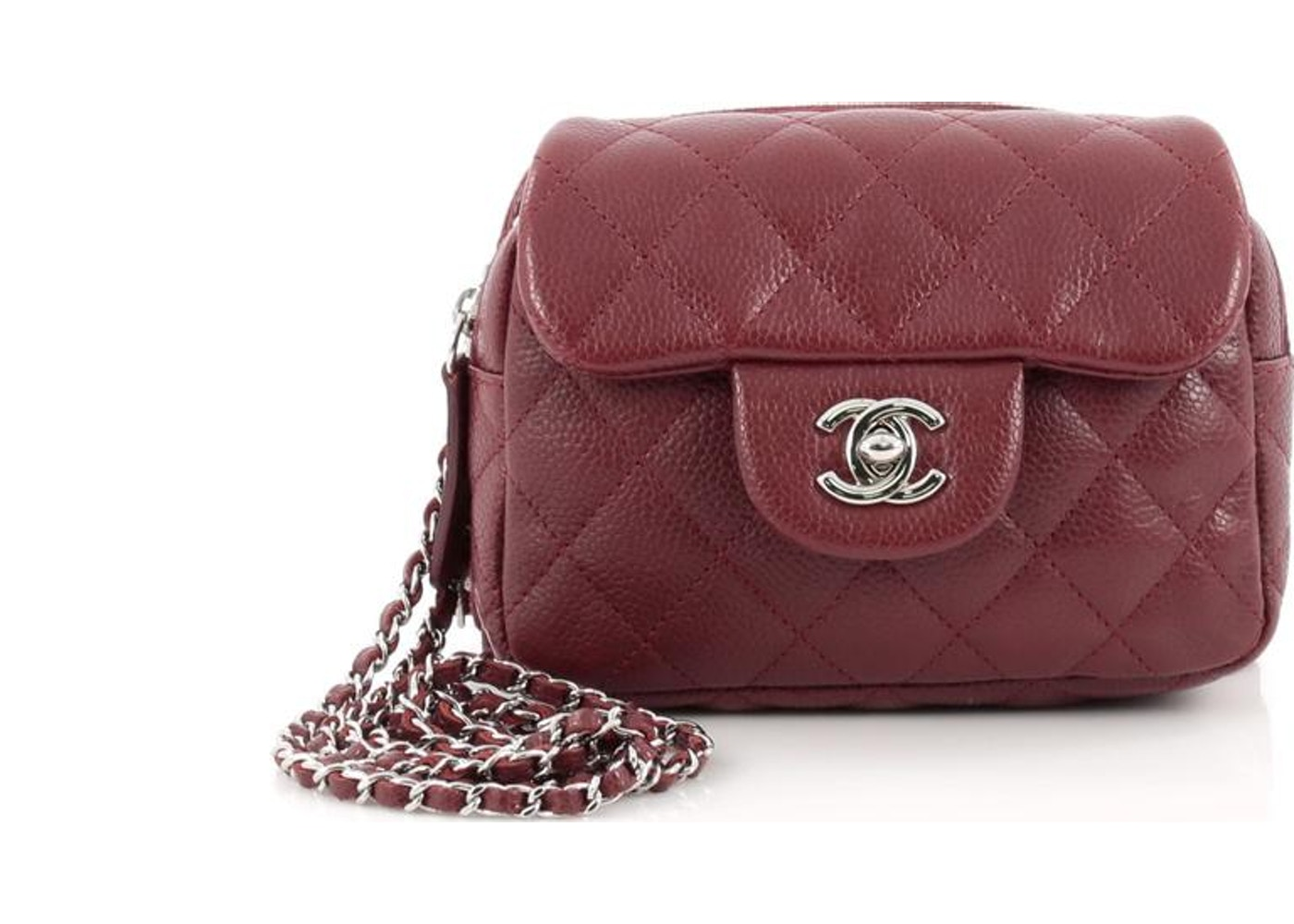 abd6d9b74cc5 Chanel Flap Wallet on Chain Quilted Diamond Mini Red. Quilted Diamond Mini  Red