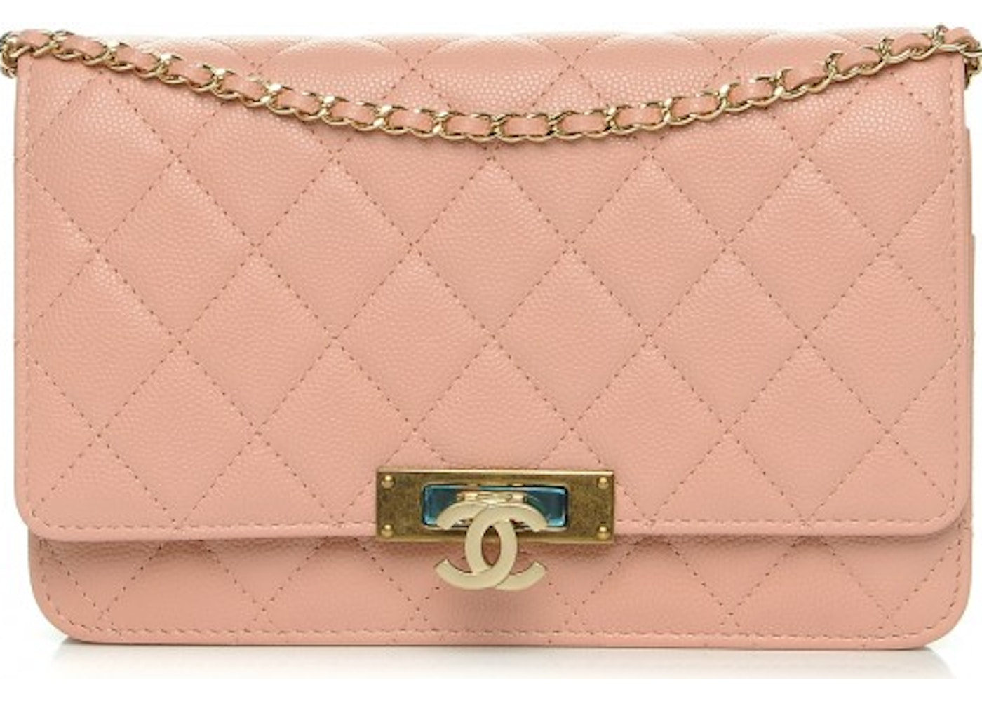 711a24948547 Chanel Golden Class Wallet On Chain Quilted Diamond Light Pink. Quilted  Diamond Light Pink
