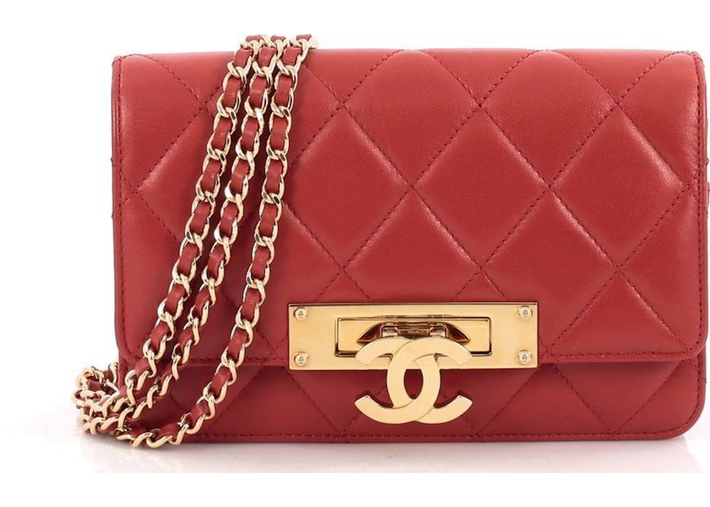 70889ba38c0b Sell. or Ask. View All Bids. Chanel Wallet On Chain Golden Class Red
