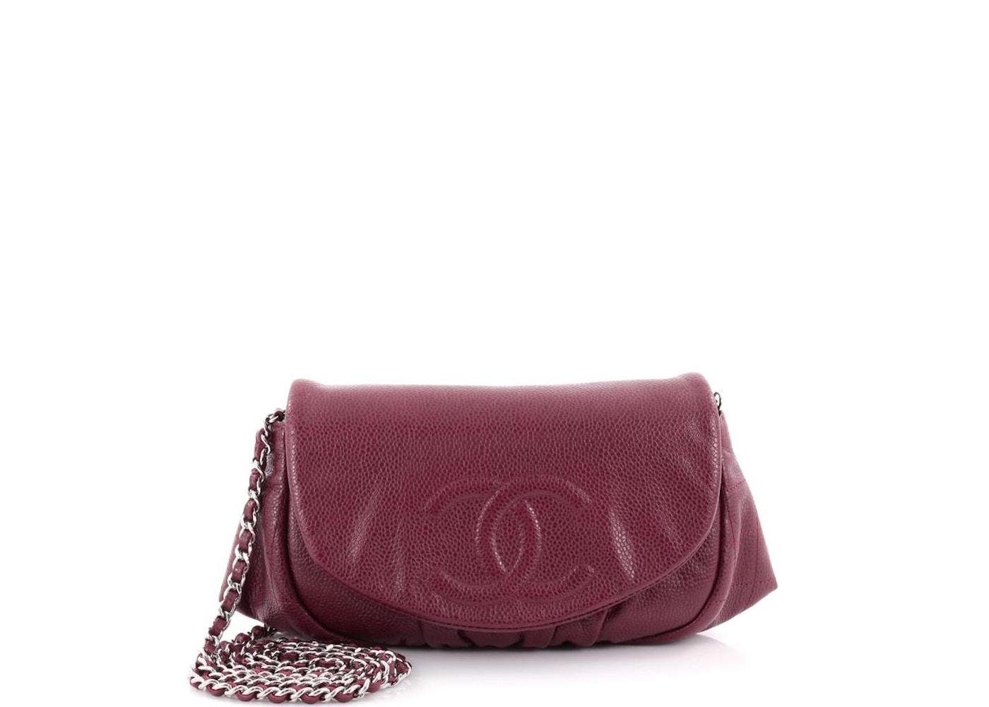 7978ceae75e3 Chanel Half Moon Wallet On Chain Burgundy. Burgundy