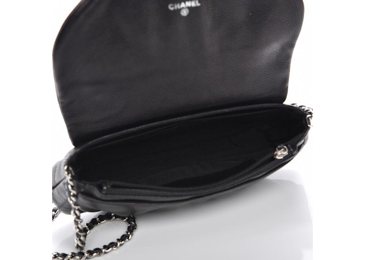edb8f6988861 Chanel Half Moon Wallet On Chain Black