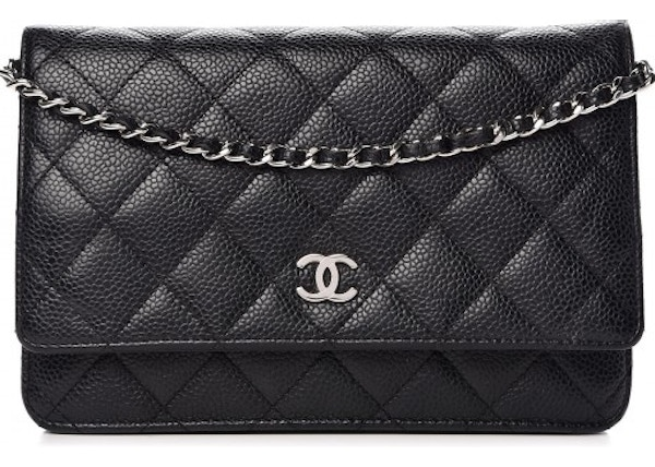 43fa2866c4 Chanel Wallet On Chain Quilted Black