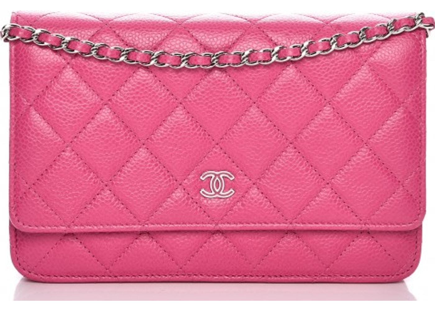 2ede1e84929c Chanel Wallet On Chain Diamond Quilted Bubblegum Pink. Diamond Quilted  Bubblegum Pink