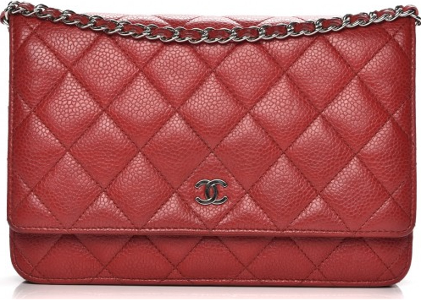 fef1b18faa90 Chanel Wallet on Chain Diamond Quilted Red. Diamond Quilted Red