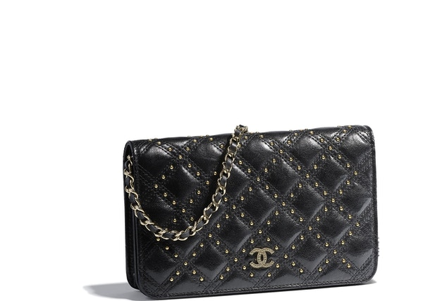 f40d2bf14820 Chanel Wallet On Chain Quilted Lambskin Gold-tone Black