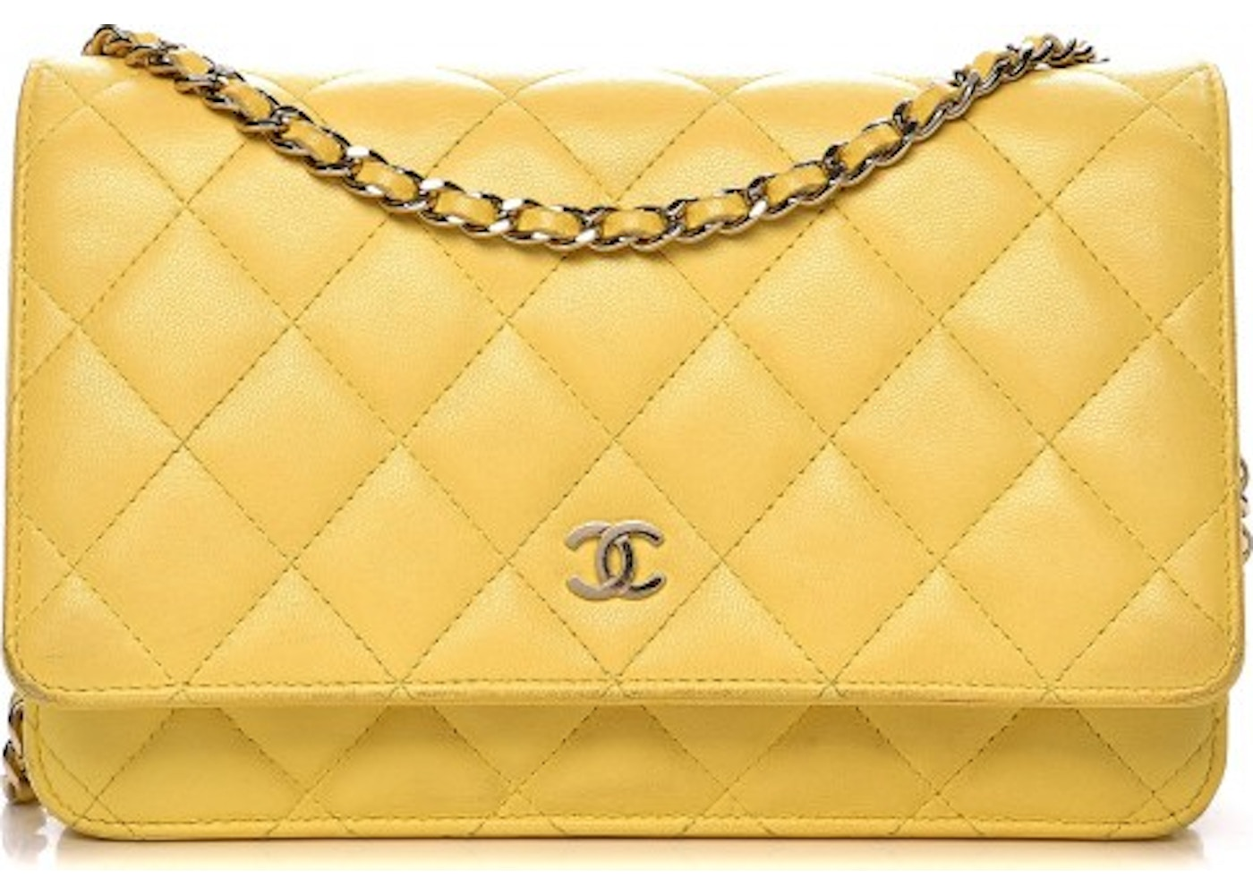 80cc5d5a1013 Chanel Wallet On Chain Quilted Diamond Yellow. Quilted Diamond Yellow