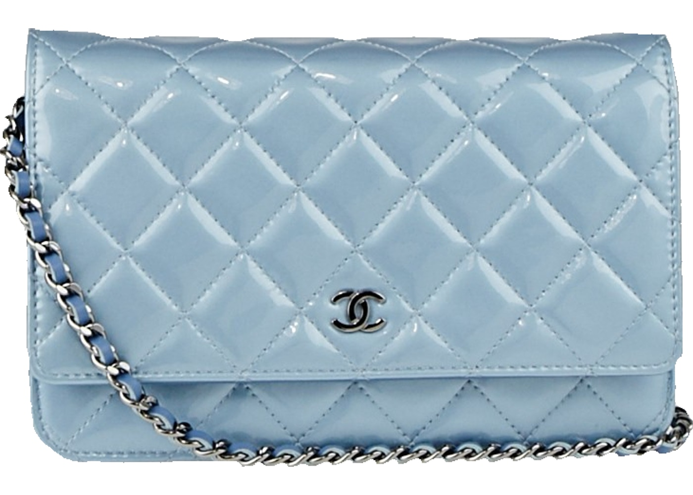 Sell. or Ask. View All Bids. Chanel Wallet on Chain Quilted Light Blue 453096e3b