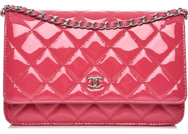 3acbb51ae3a9 Chanel Wallet On Chain Diamond Quilted Fuchsia