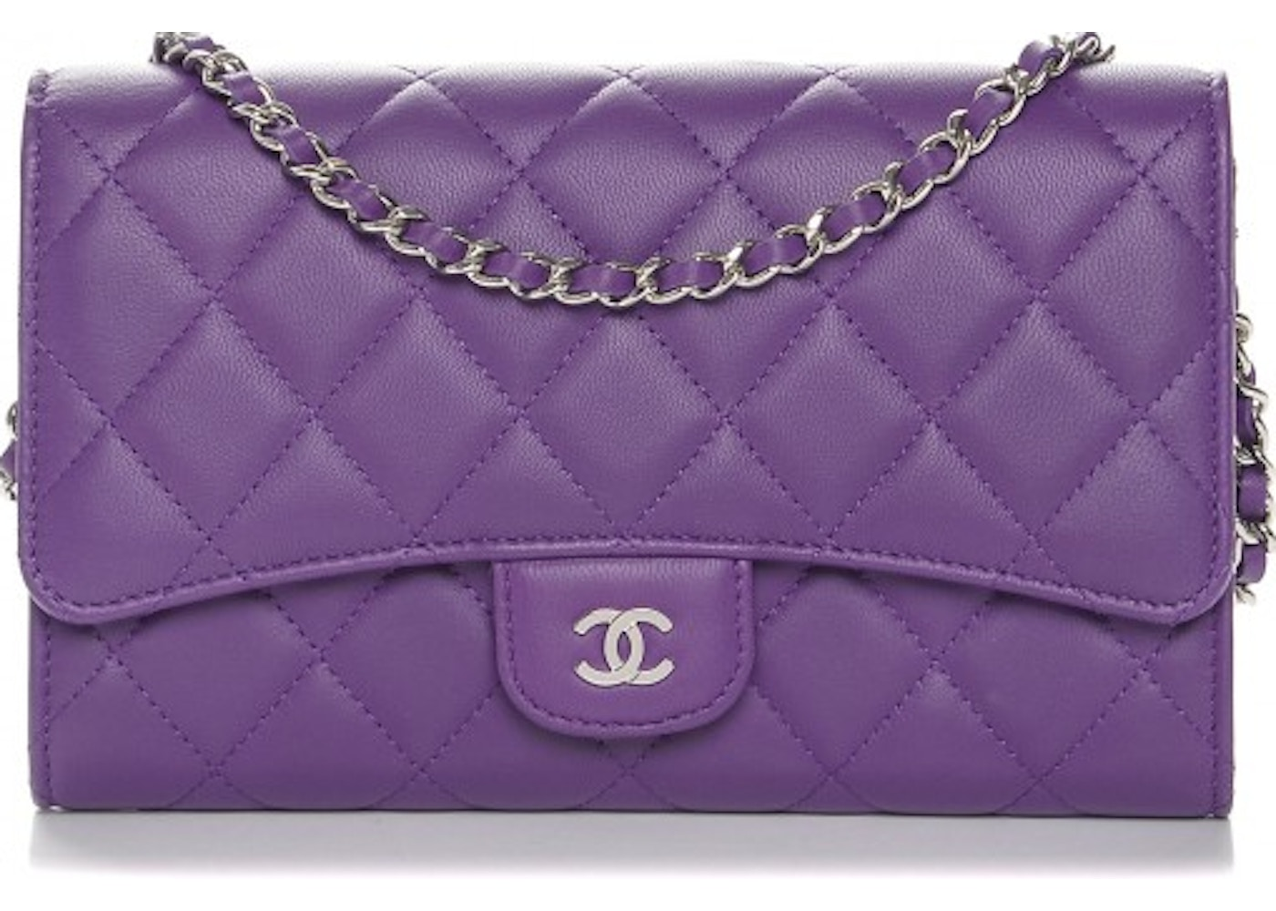 5d1c7a91de4a Chanel Removable Chain Wallet On Chain Quilted Purple. Quilted Purple