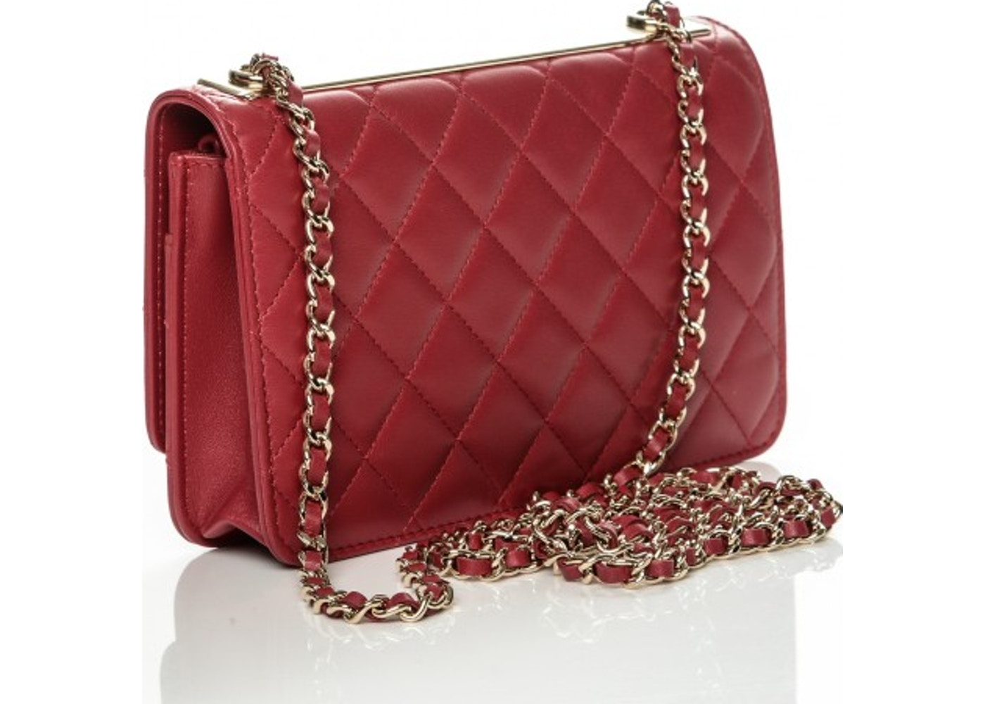 9e4c3e42d3d5 Chanel Trendy CC Wallet On Chain Quilted Diamond Dark Pink