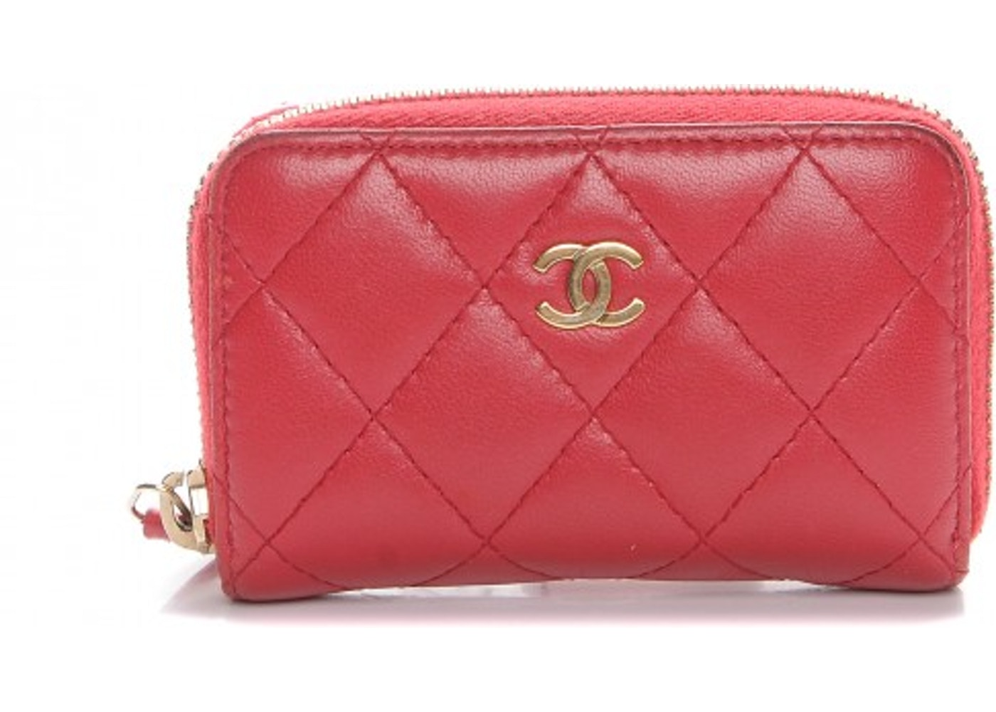 91504a602283 Chanel Zip Around Coin Purse Wallet Quilted Diamond Dark Pink. Quilted  Diamond Dark Pink