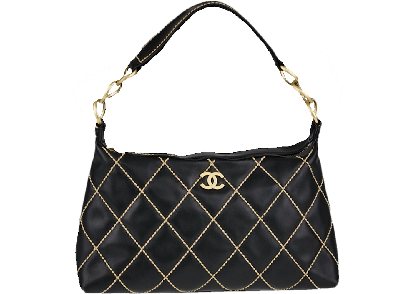 Sell. or Ask. View All Bids. Chanel Wild Stitch Quilted Small Black c9c83741f9498