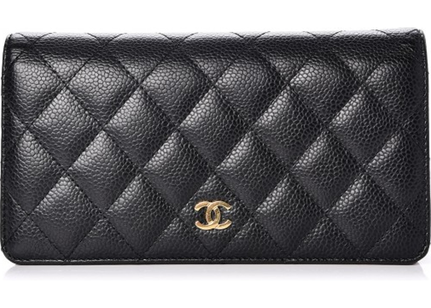 7fb2460ad8eefe Chanel Yen Wallet Quilted Diamond Black. Quilted Diamond Black