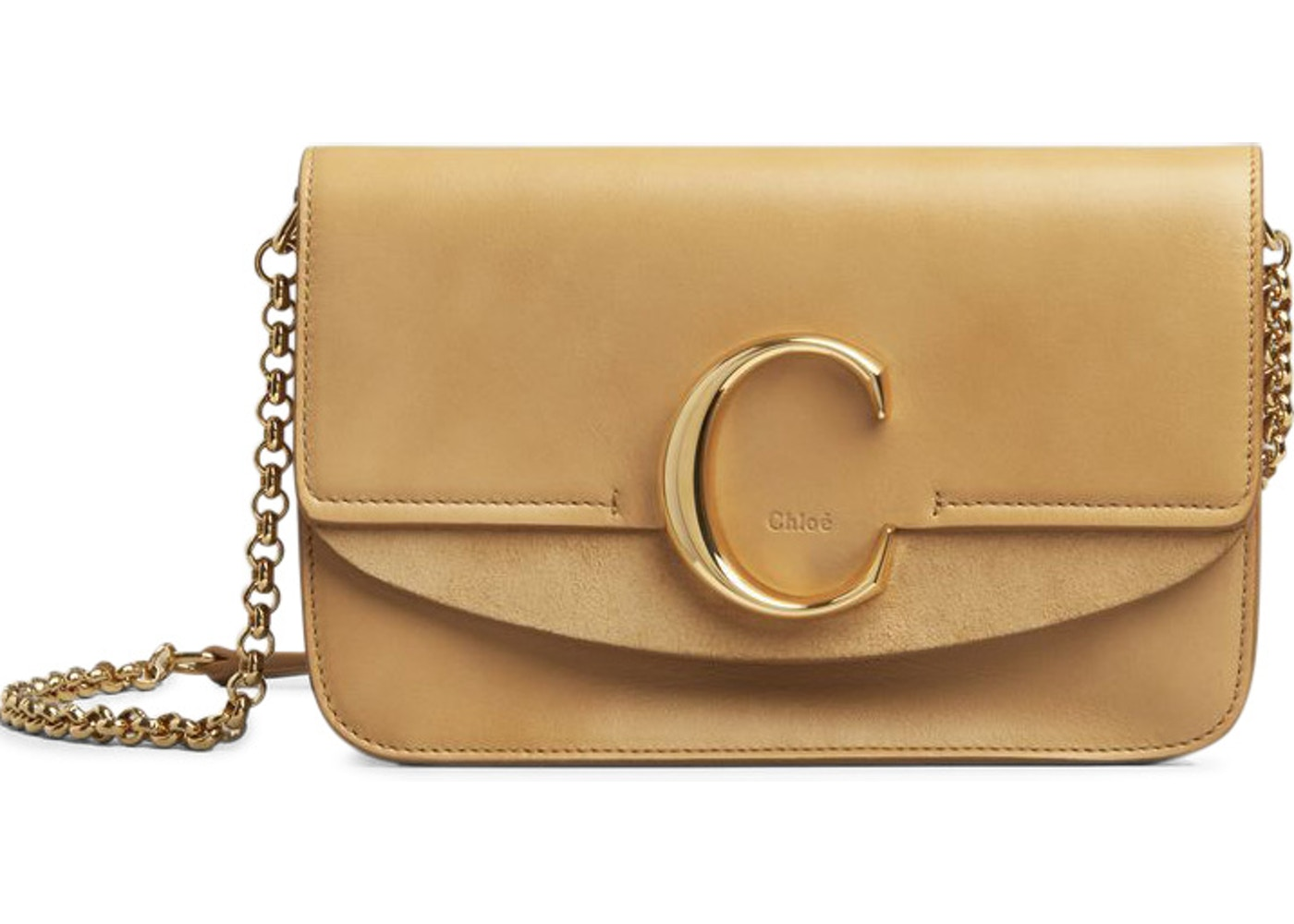 955fc21a3d5 Chloe C Clutch with Chain Bleached Brown. Bleached Brown