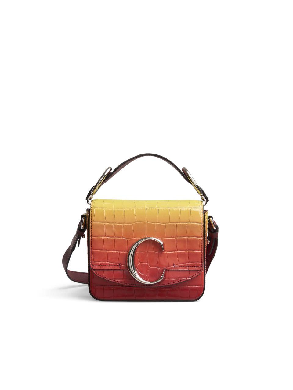 Chloe C Croco Mini Yellow/Red