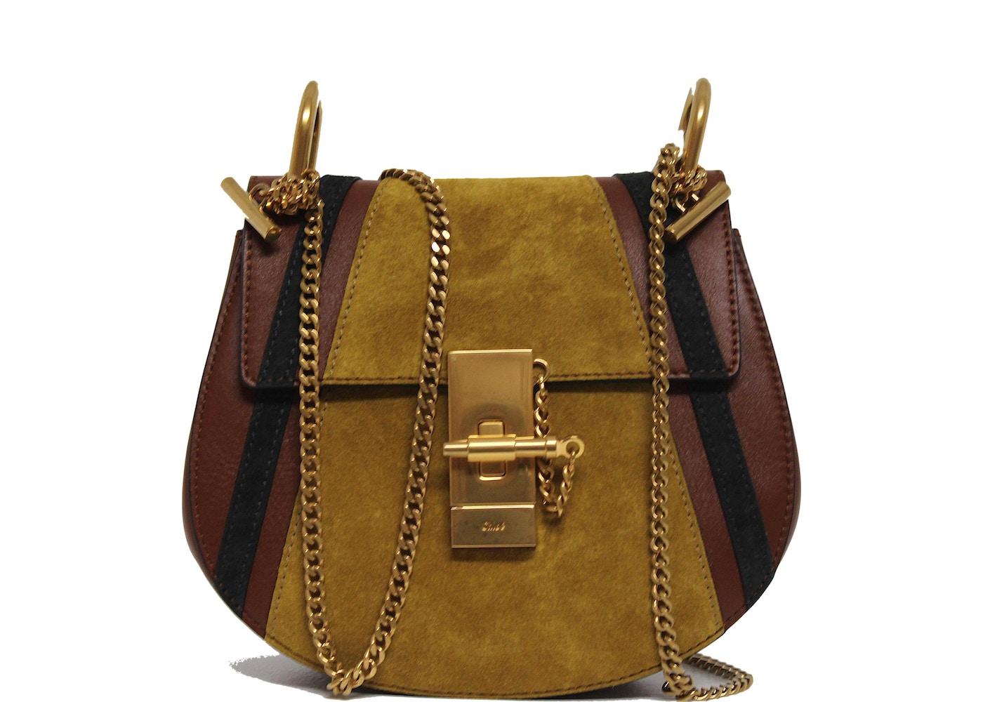 5696d3232236e Chloe Drew Shoulder Bag Patchwork Mini Brown Multicolor. Patchwork Mini  Brown Multicolor