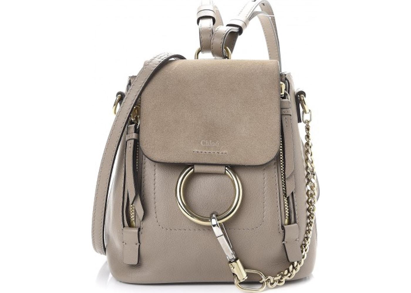 bfe2e870f52a Chloe Faye Backpack Smooth/Suede Mini Motty Grey. Smooth/Suede Mini Motty  Grey