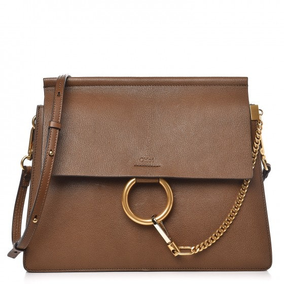 Chloe Faye Shoulder Medium Woody Khaki