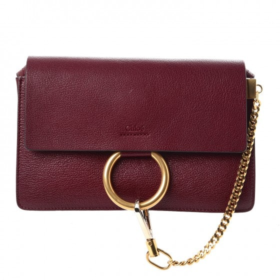 Chloe Faye Shoulder Small Sienna Red