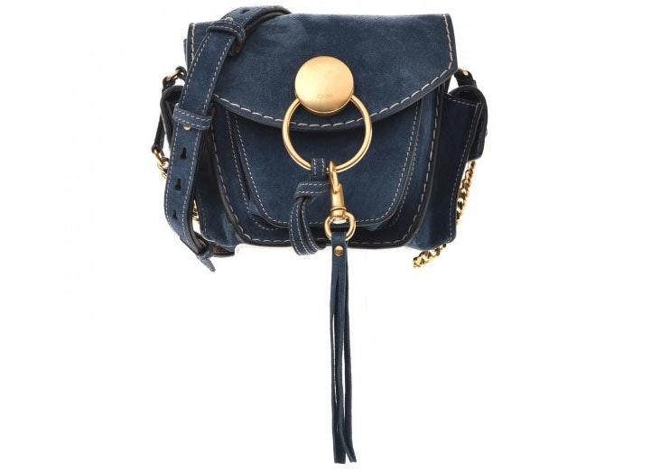 Chloe Jodie Camera Bag Small Navy