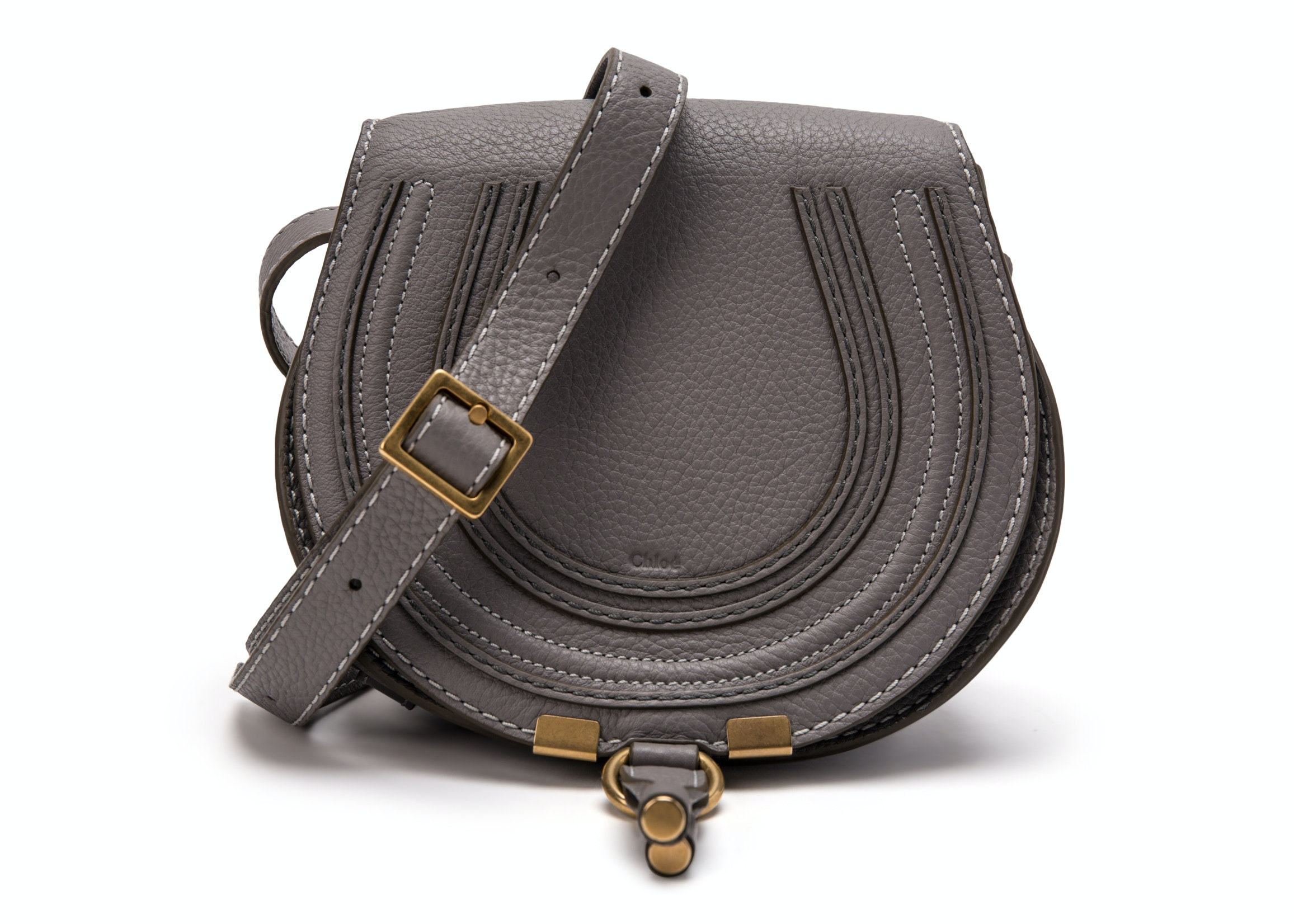 Chloe Marcie Crossbody Mini Cashmere Grey