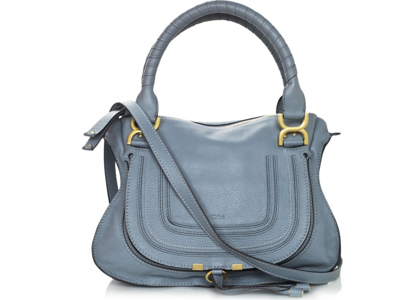 50cffcba12a Chloe Marcie Satchel Medium Dusty Blue. Medium Dusty Blue