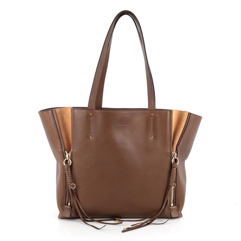 Chloe Milo Tote Medium Brown