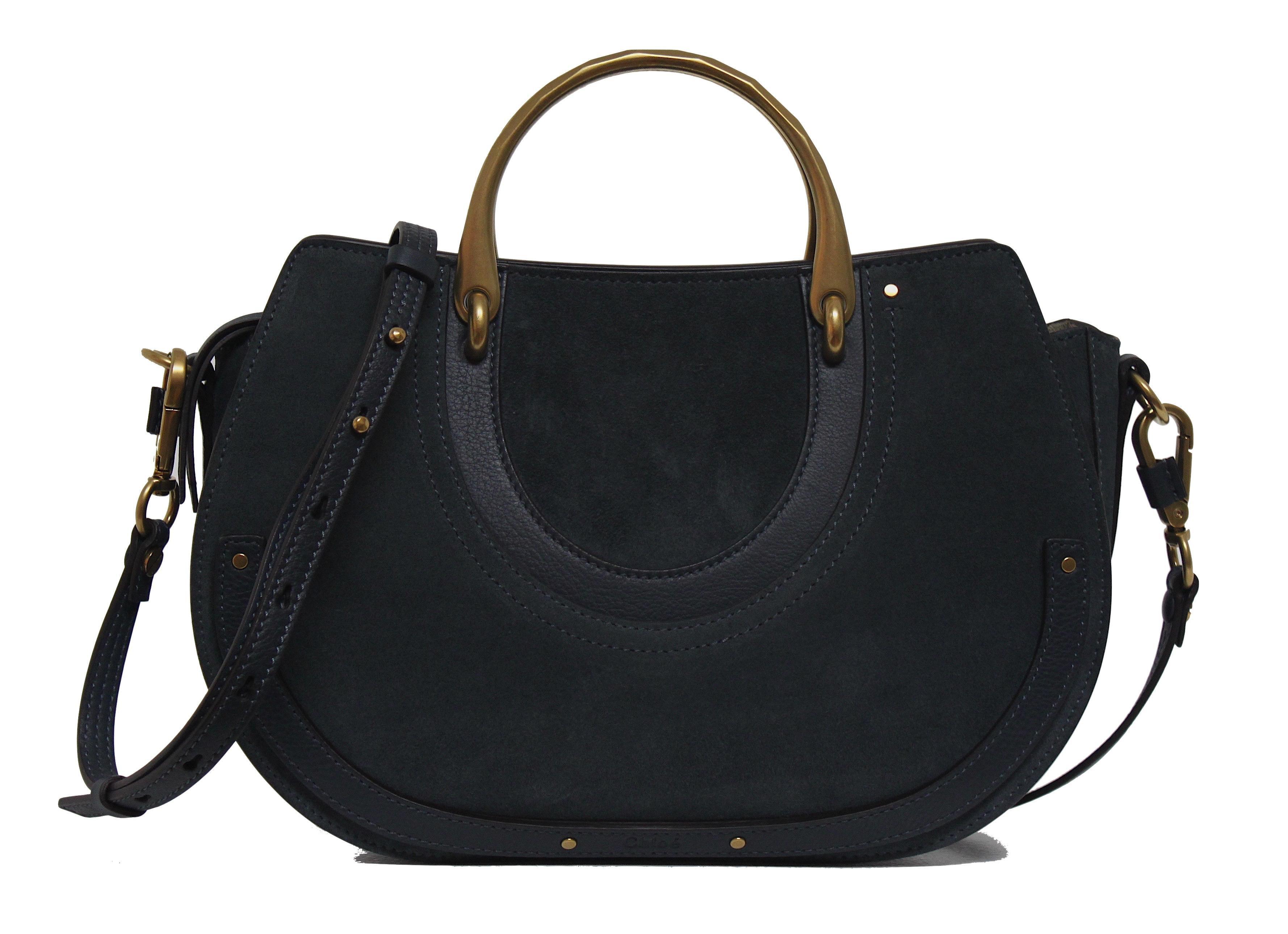 Chloe Pixie Shoulder Bag Medium Blue