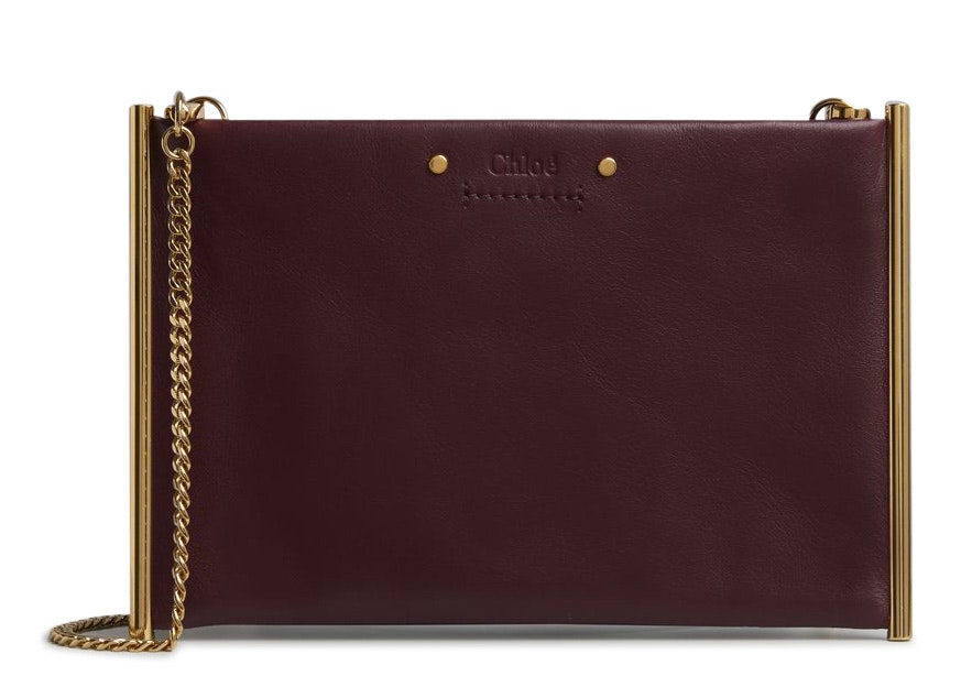 Chloe Roy Clutch Mini Burnt Brown