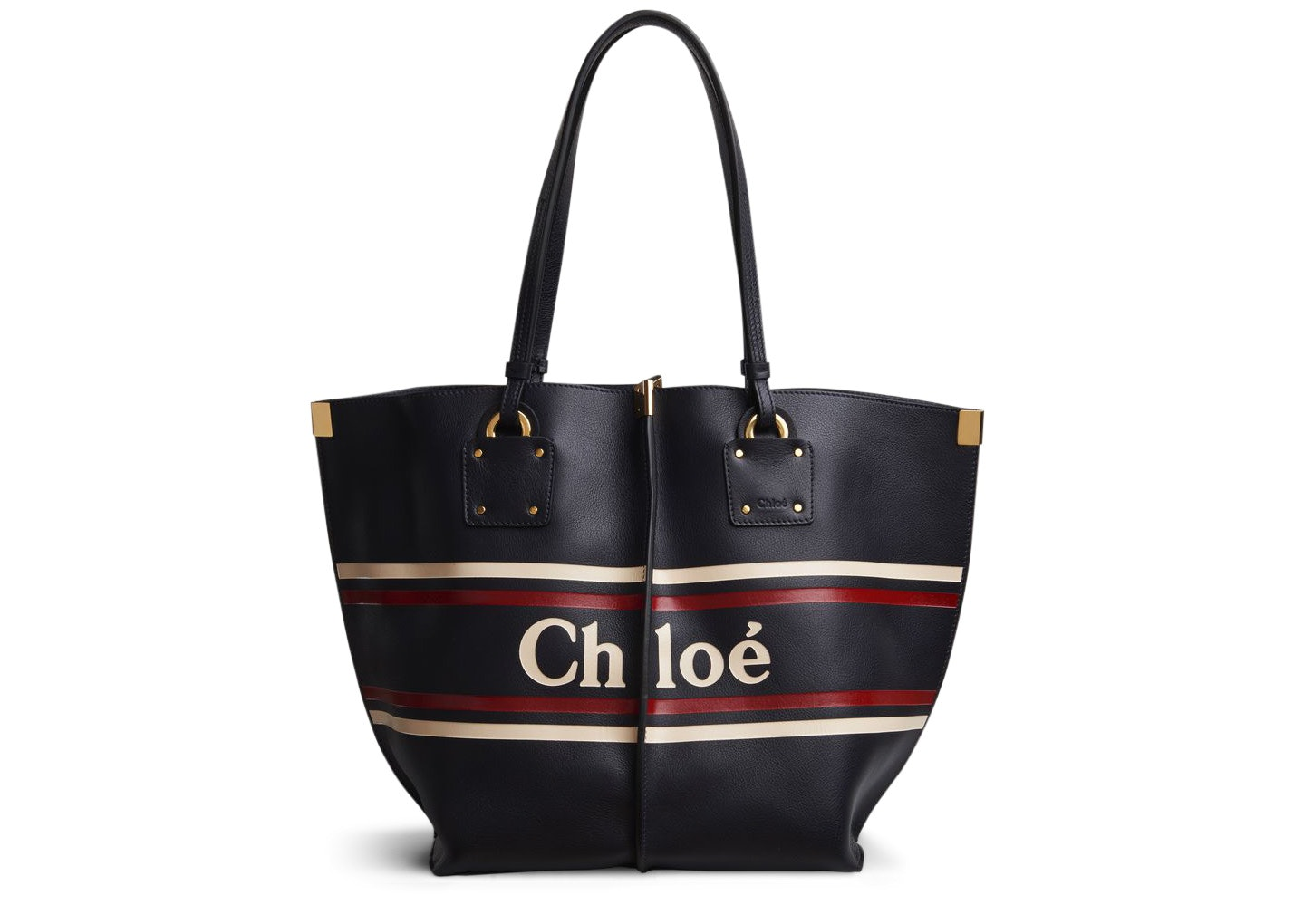Chloe Vicky Tote Logo Medium Full Blue