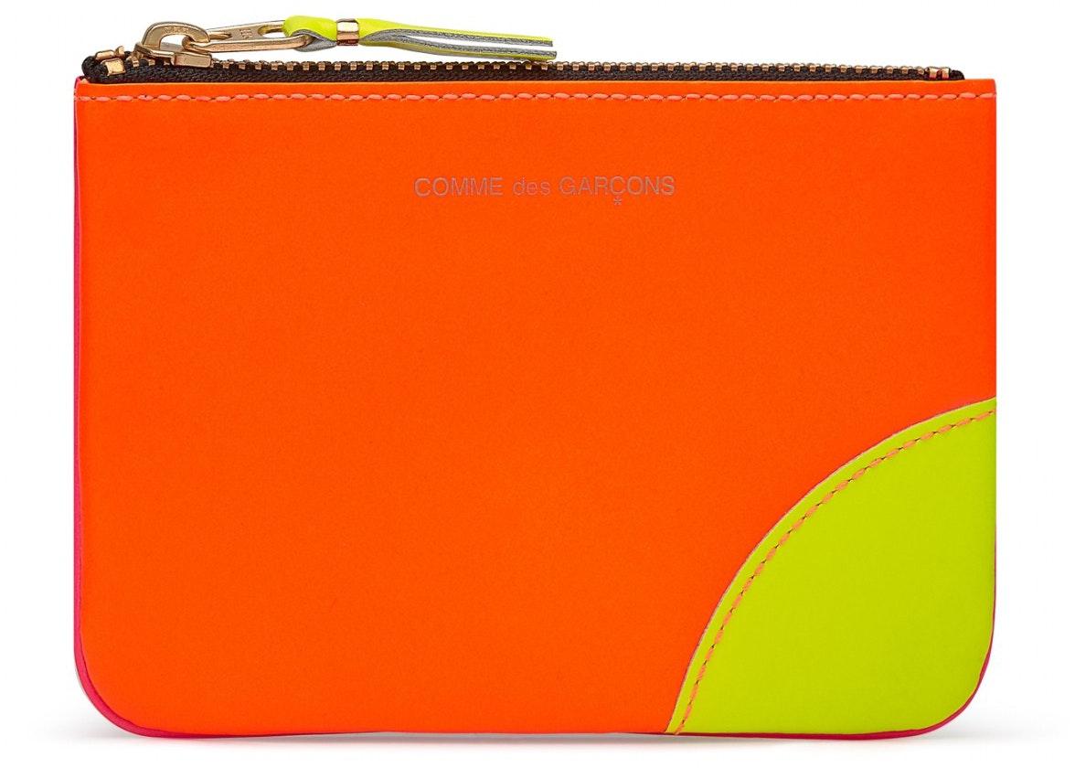 Comme des Garcons New Super Fluo Zip Pouch Small Orange/Pink