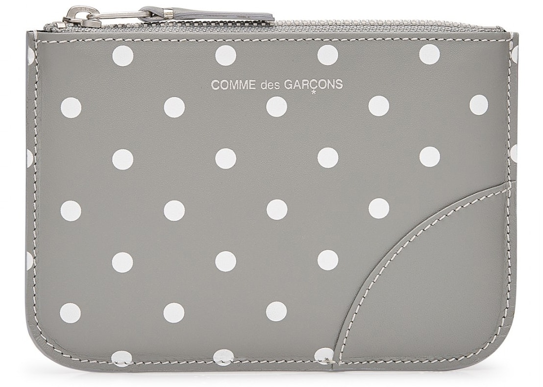 Comme des Garcons Zip Pouch Polka Dots Small Grey